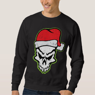 Santa Skull Holiday Sweatshirt
