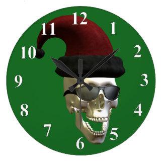 Santa Skull Large Clock