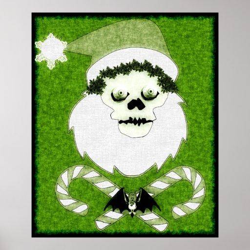 Santa Skull Poster