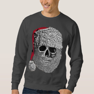 Santa skull pull over sweatshirts