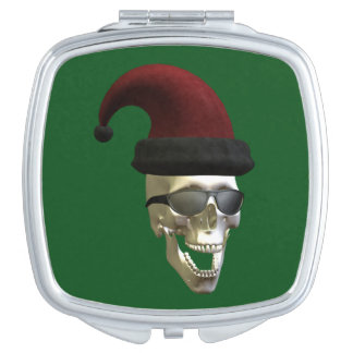 Santa Skull Square Makeup Mirror
