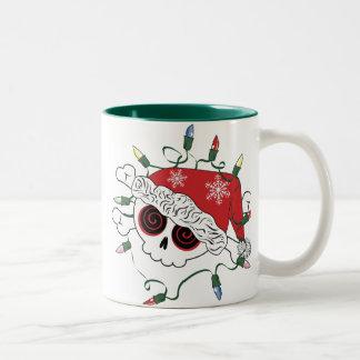 Santa Skull Two-Tone Coffee Mug