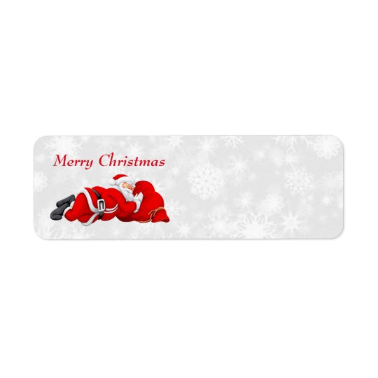 santa sleeping address labels