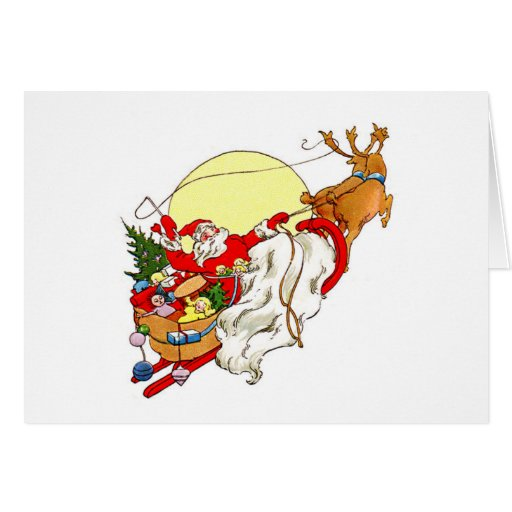 Santa Sleigh Cards