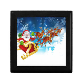 Santa Sleigh Christmas Background Gift Box