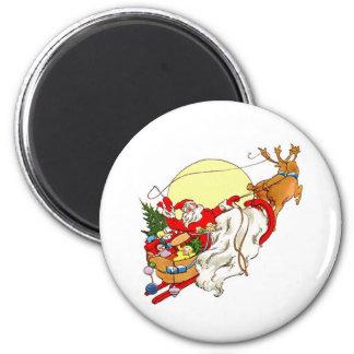 Santa Sleigh Fridge Magnets