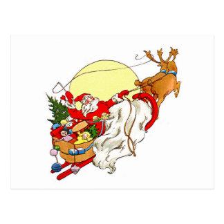 Santa Sleigh Postcard