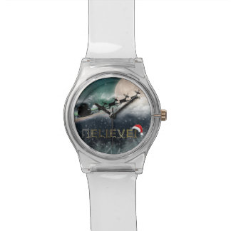 Santa Sleigh Reindeer Christmas Watch