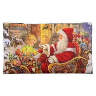 Santa sleigh - Santa claus illustration Cosmetic Bag