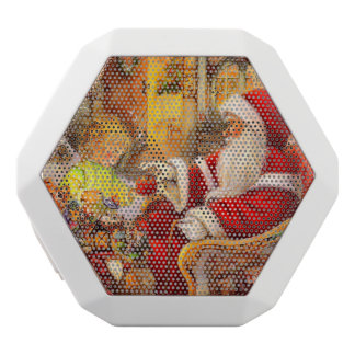 Santa sleigh - Santa claus illustration White Bluetooth Speaker