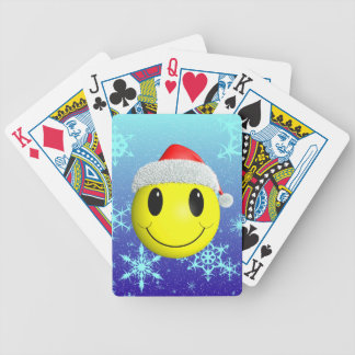Santa Smiley Bicycle Playing Cards