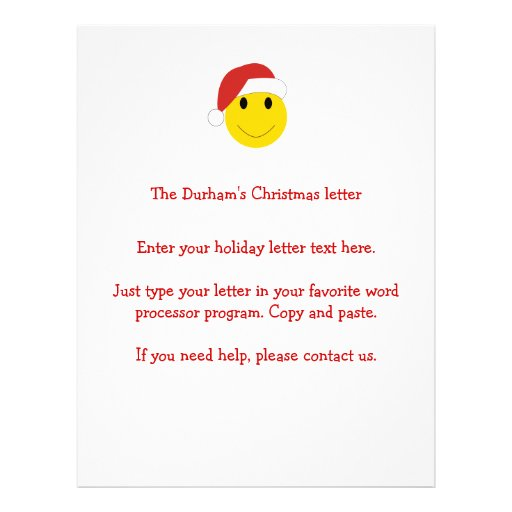 Santa Smiley Holiday cards and gifts. Full Color Flyer
