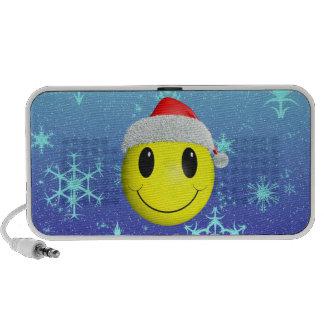 Santa Smiley Notebook Speakers