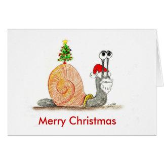 Santa Snail Card