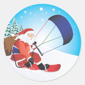 Santa Snowkite Snowboard Sticker