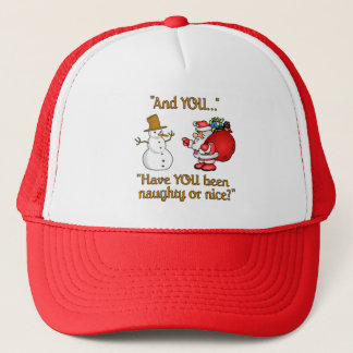 Santa & Snowman hat, choose color Trucker Hat