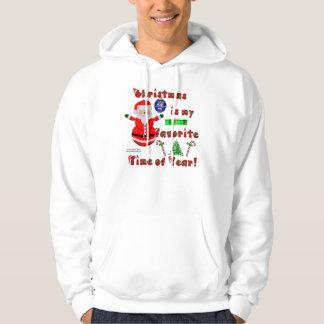 Santa Snowman Men's Hoodie