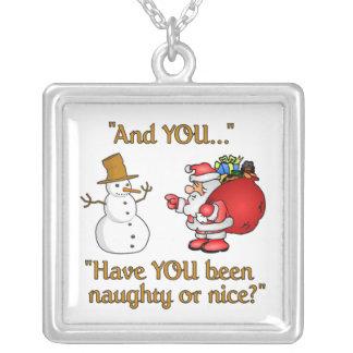 Santa & Snowman necklace