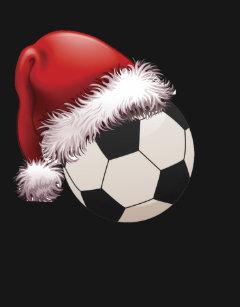 1ae48772696b8 Santa Soccer ball T-Christmas xmas Hat T-shirt