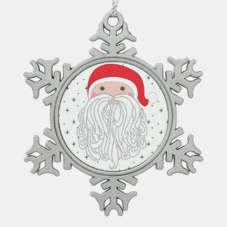 Santa Sparkle Snowflake Ornament