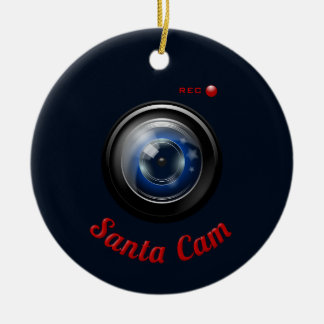 Santa Spy Camera Christmas Ornament
