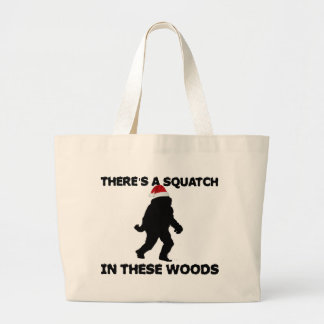Santa Squatch Tote Bag