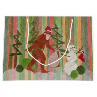 Santa Squatch Large Gift Bag