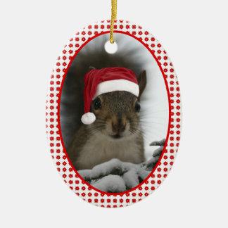 Santa Squirrel DATED Christmas Ornament