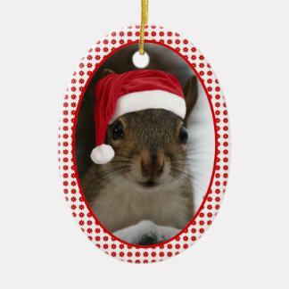Santa Squirrel™ Dated Two-Sideded Christmas Ornament