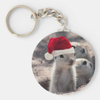 Santa Squirrel Keychain