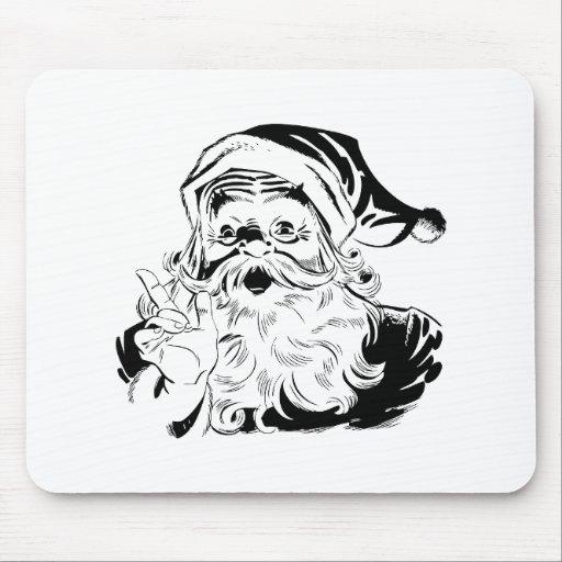 Santa St. Nick Holiday Winter Happy Destiny Season Mousepad