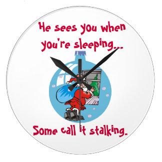 Santa Stalker Joke Clock