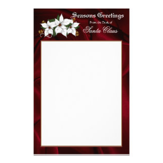 Santa Stationary Letterhead Personalized Stationery