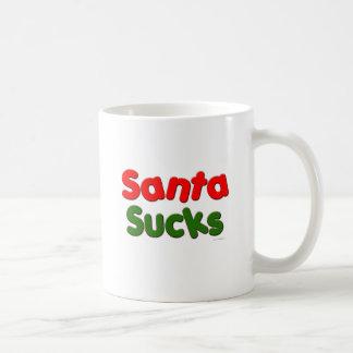 Santa Sucks Basic White Mug