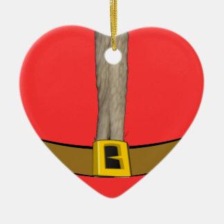 Santa Suit Belly Heart Ornament