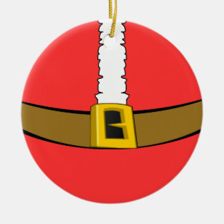 Santa Suit Belly Round Ornament