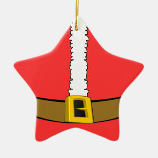 Santa Suit Belly Star Ornament