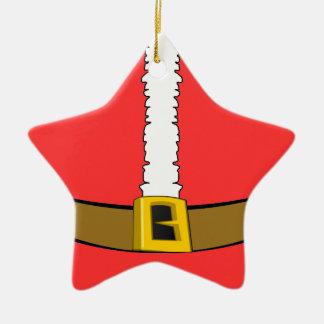 Santa Suit Belly Star Ornament