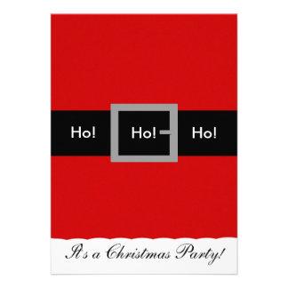 Santa Suit Christmas Invitation Ho Ho Ho