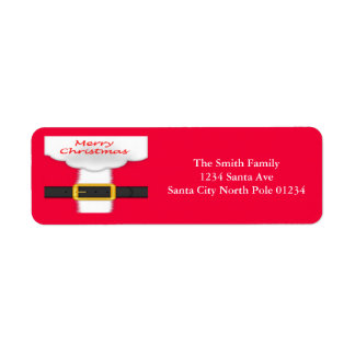 Santa Suit Santa Beard Return Address Label