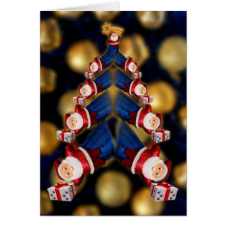 Santa Super christmas tree Card