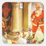 Santa Supervise Elves Baking Christmas Cookies