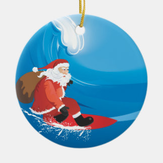 Santa Surf Ornament