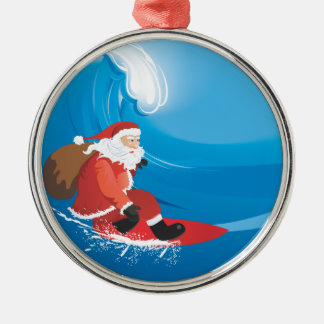 Santa Surf Premium Ornament