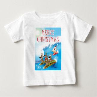 Santa Surfin' Baby T-Shirt