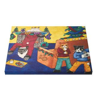 Santa Surprise Canvas Print