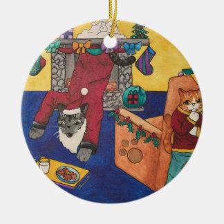 Santa Surprise Christmas Ornament