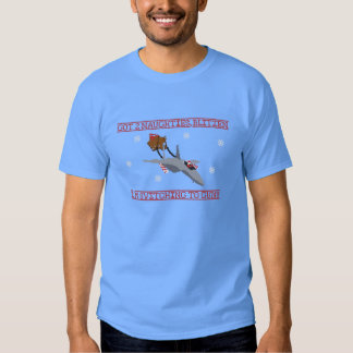 Santa takes a Jet (F15) - Ugly Sweater T-Shirt