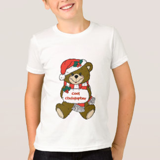 Santa Teddy Bear with Hat and Muff Tshirt