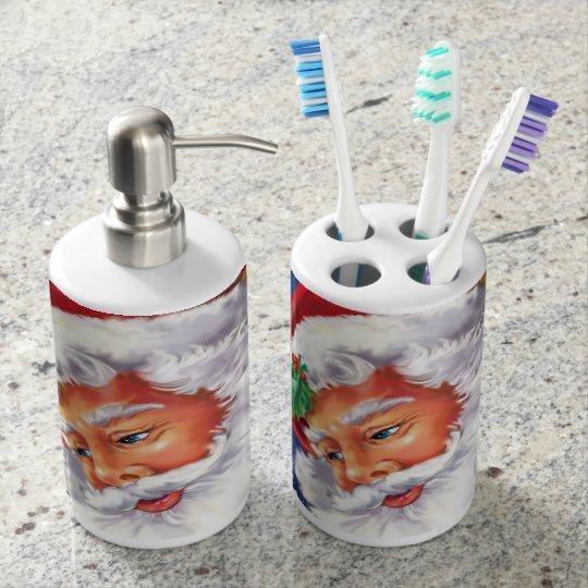 Santa Toothbrush Holder and Soap Dispenser